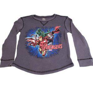 Disney Store Boy's Avengers Long Sleeve Graphic T